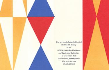 オリヴェッティ社 招待状デザイン 1956年